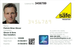 Gas Safe Register ID card Be Gas Safe Gas Safe Charity RoSPA
