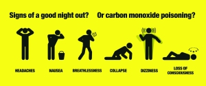 Signs of carbon monoxide poisoning Be Gas Safe Gas Safe Charity RoSPA