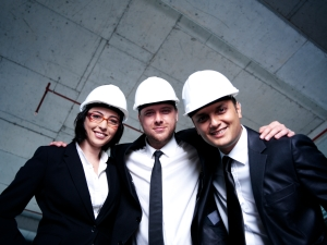 colleagues in hard hats occupational safety