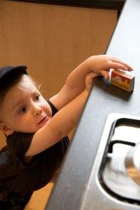 child safety kitchen Sheila Merrill Christmas safety