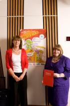 Elizabeth Lumsden from RoSPA with MSP Clare Adamson