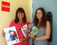 Jen Foley, project support officer, and Carlene McAvoy, community safety development officer, at RoSPA Scotland