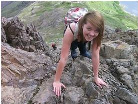 Sioned's first successful Climb up Mount Snowdon.