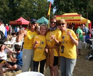 Amelia and friends celebrate after completing The Great River Race 2013!
