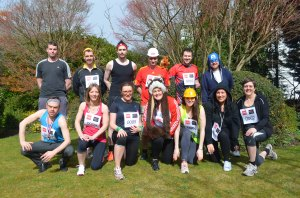 The daring members of RoSPA's Wolf Run team