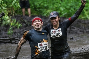 Tess Bowen and her brother Mat taking on the Wolf Run